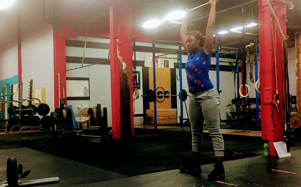 Cintia pushing through a set of thrusters.  Glad you're a part of our community--keep up the solid work!