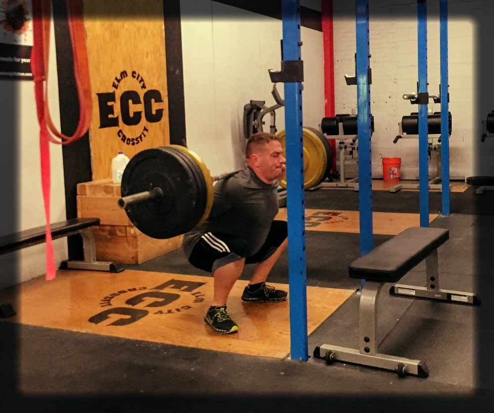 Gerald getting some nice depth on the 1.5 squats on Thursday. You are impressing us all--keep up the hard work!