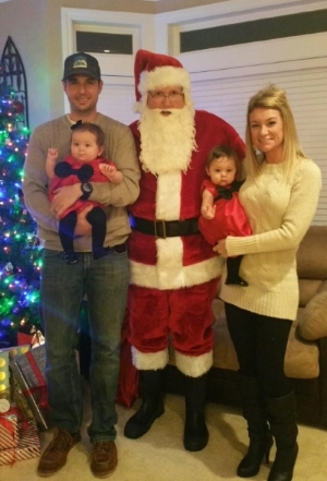 No tears for their visit with Santa