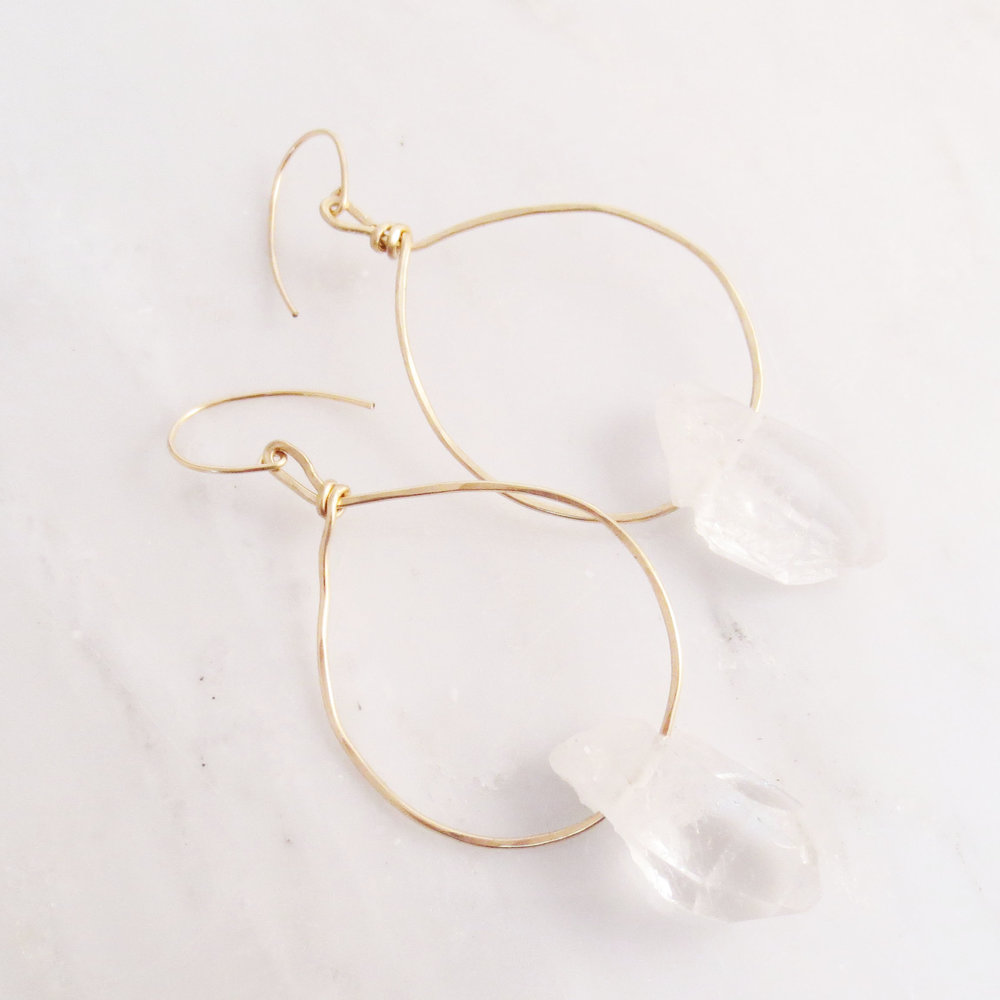 Allure Crystal Quartz Earrings