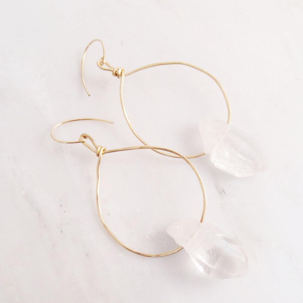 Allure - Crystal Quartz Earrings