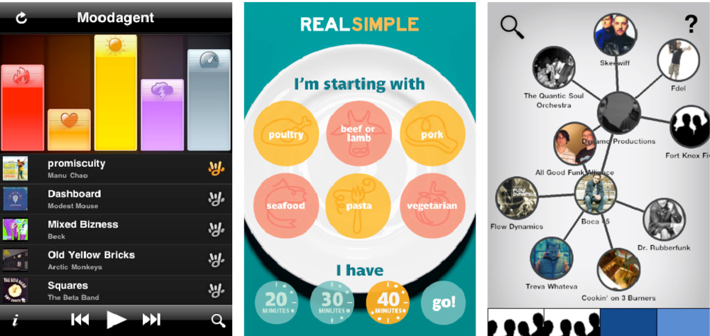 Trendscrape  Moodagent, Real Simple, and Discovr