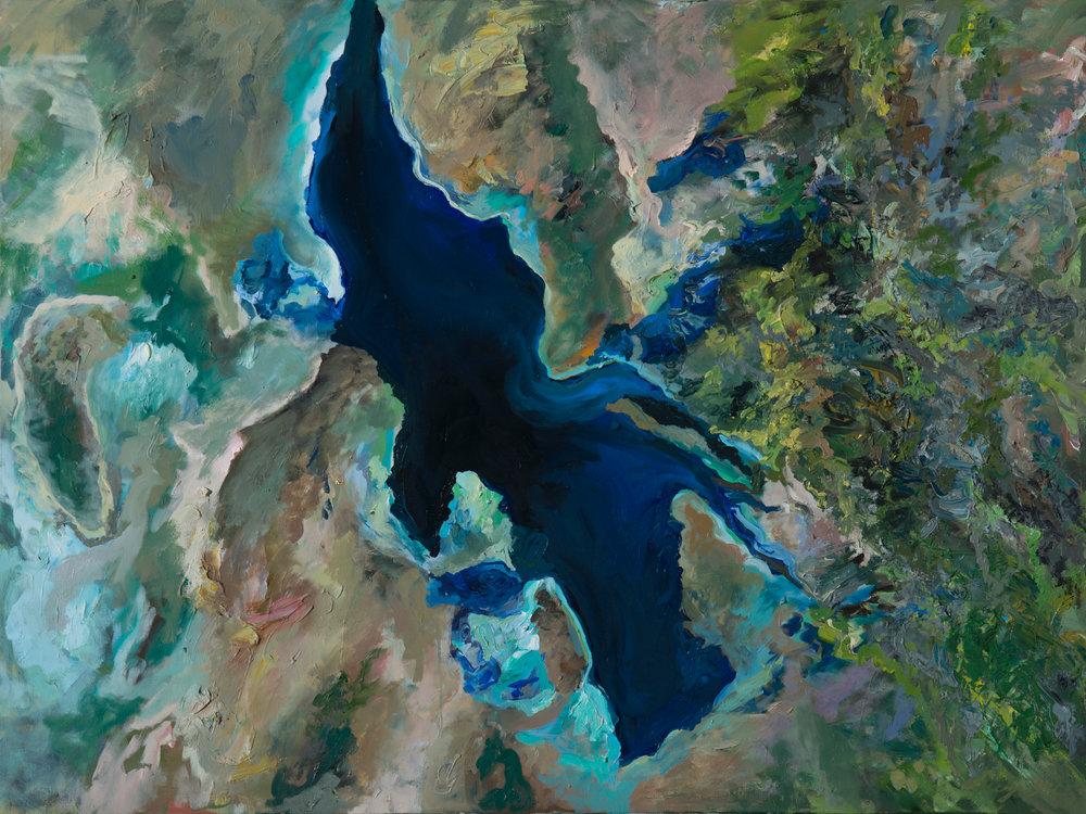 Shriveling: Great Salt Lake Utah, Sep 2010