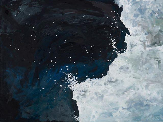 Ice Loss: Western Antarctica, Feb 1975 - Mar 2015 2018 Oil on canvas 40''x 30 #NATURALCHANGE - - #nasaearth #nasa #imagesofchange #oiloncanvas #oiloncanvaspainting #abstrakt #artcollectors
