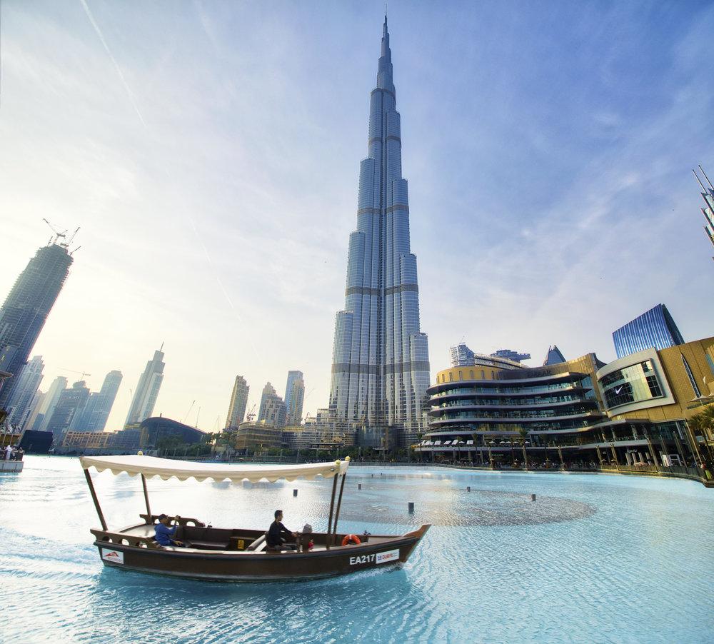 Dubai Mall and Burj Khalifa Dubai, UAE December 2018