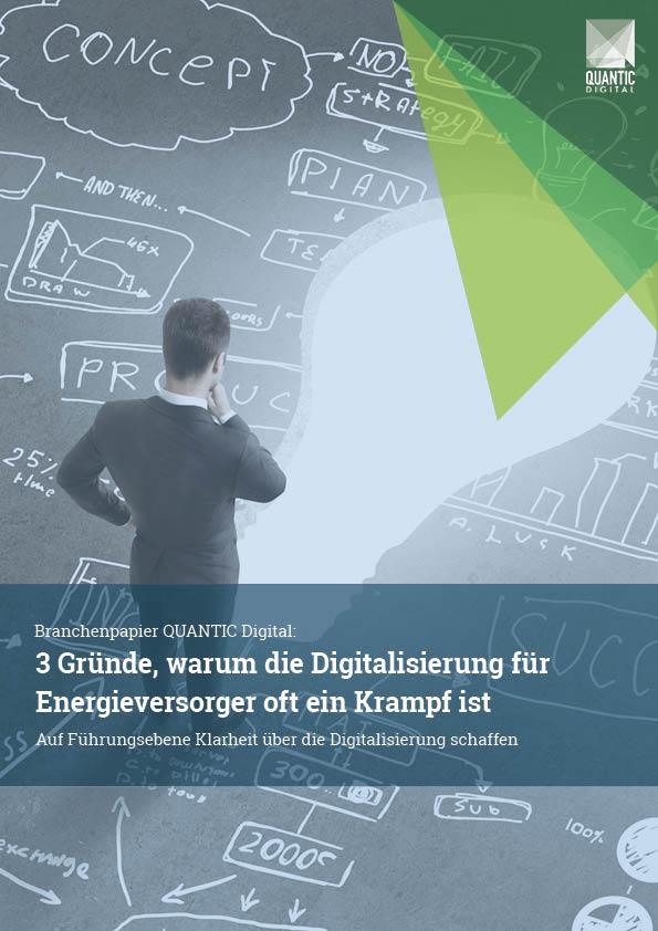 Branchenpapier - 3 Gründe, warum die Digitalisierung für Energieversorger oft ein Krampf ist