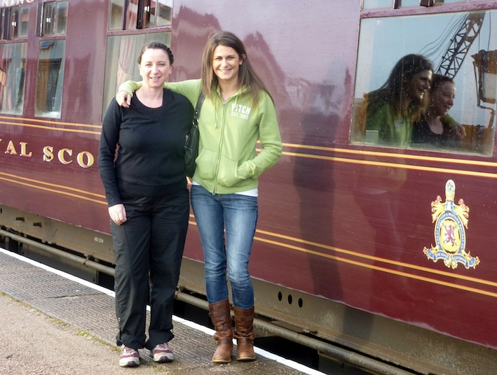 Elaine, Kirsty & the Royal Scotsman