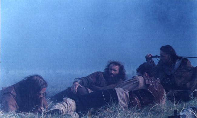 highlanders lying down