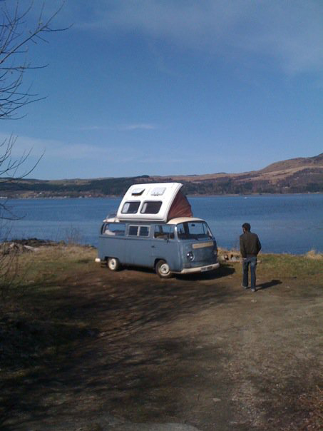 Claire's Camper Van at Loch Fyne