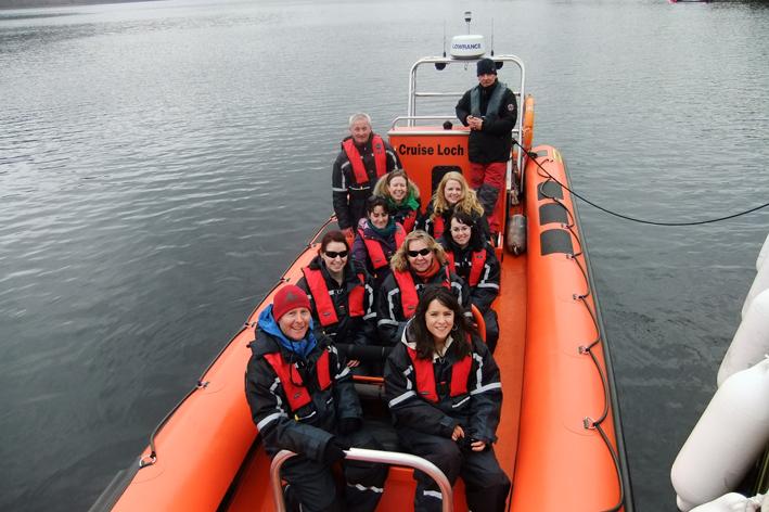 Rib Boat on Loch Ness