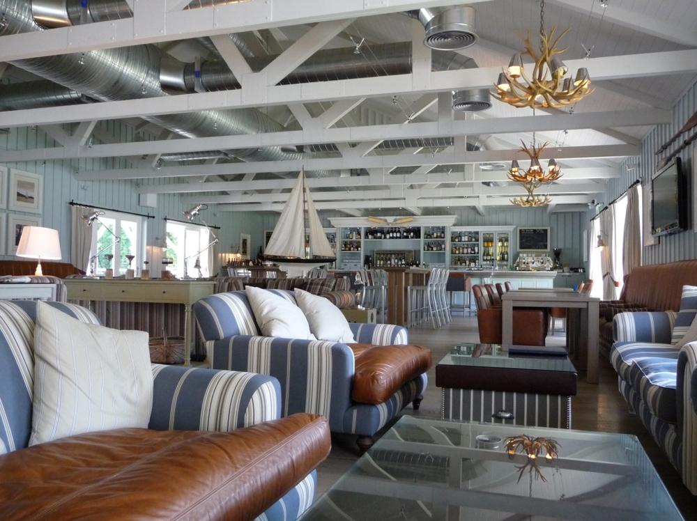 Boathouse interior