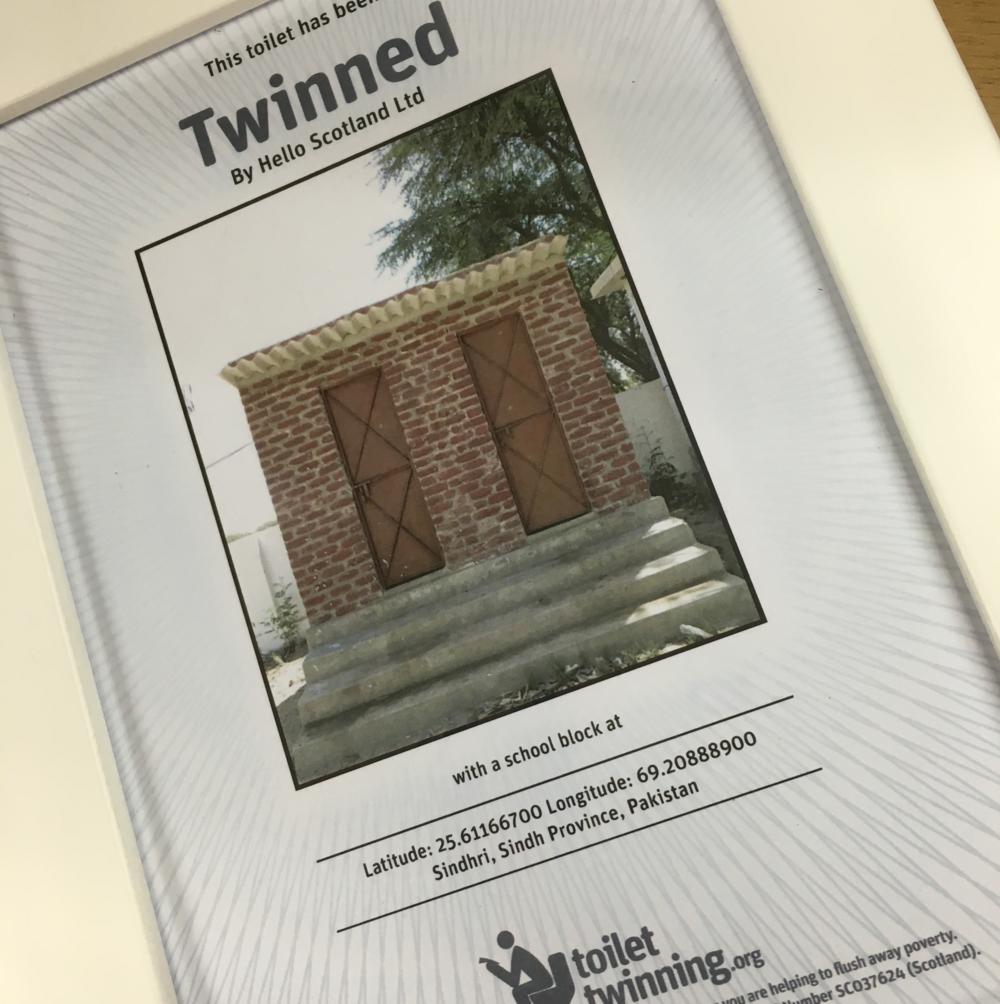 Toilet Twinning Certificate