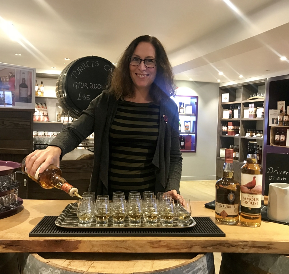 Lisa at Glenturret Distillery