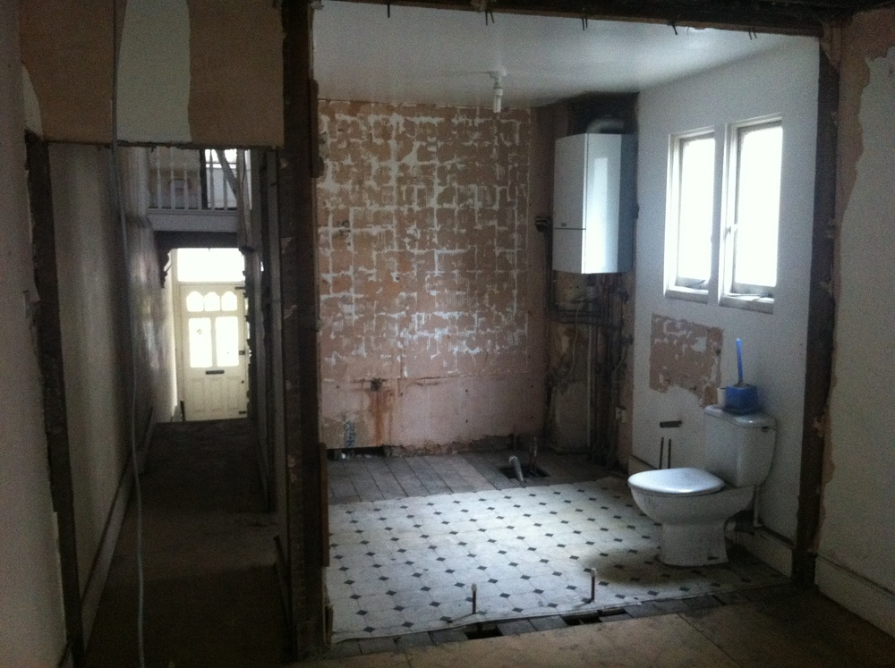 Bathroom stripped out