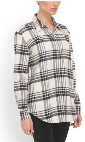 elizabeth and james plaid convertible blouse-$79.99