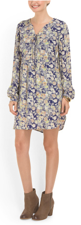 skies are blue floral shift dress- $29.99