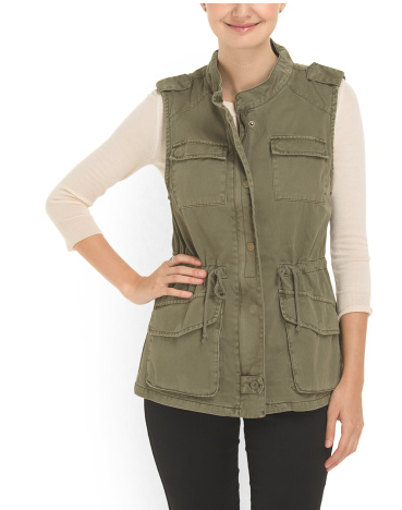 per se cotton twill vest- 29.99