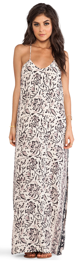 Chaser silk tapestry maxi dress- $39 (was $198)