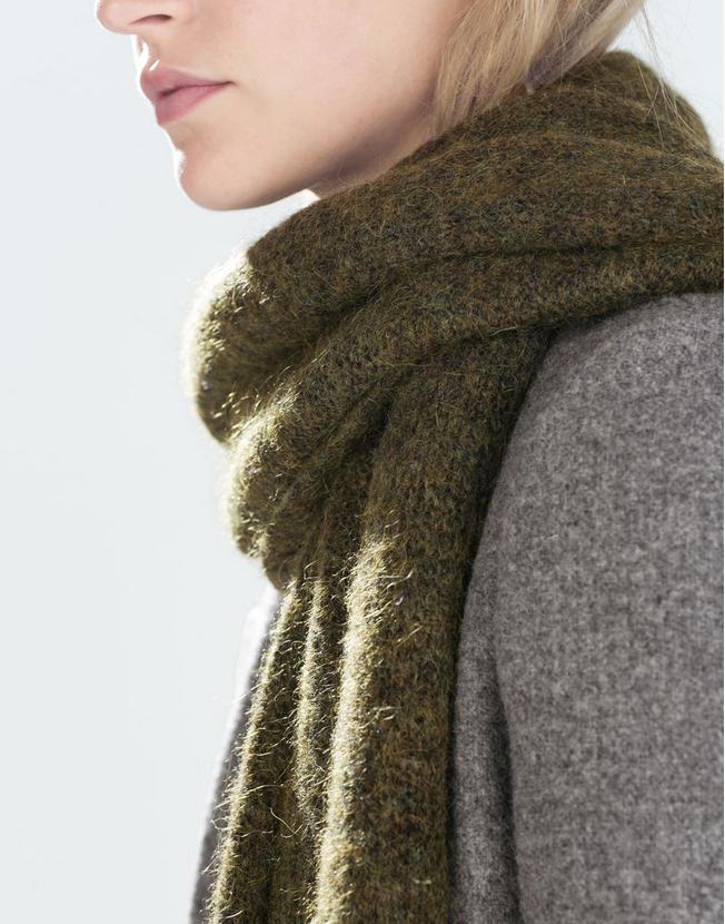 Zara wool-blend scarf- $39.90