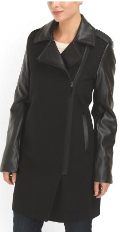 Sam Edelman faux leather detail coat- $99 (was $249)