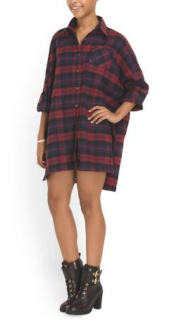 Audrey plaid shirtdress- $24.99 (was $49.99)