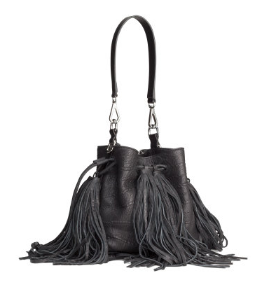 Leather fringe bag- $75