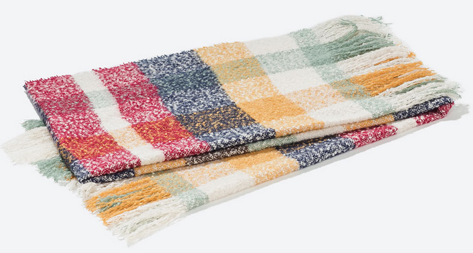 Zara acrylic checked scarf- $39.90