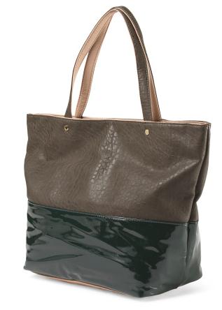 Deux Lux faux leather tote via TjMaxx- $34.99