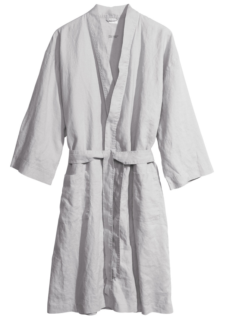 Linen robe via H&M- $34.95