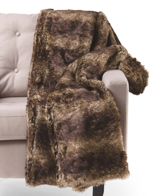 Faux fur throw- $39.99