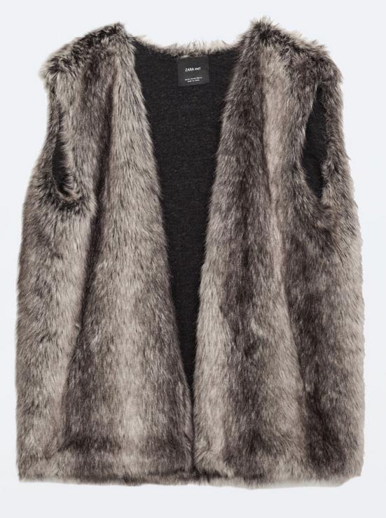faux fur vest- $35.99