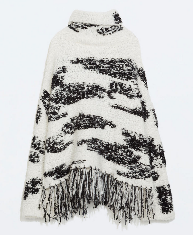 Wool blend poncho- $39.99 (was 99.90)