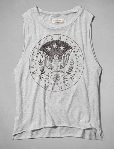 Graphic muscle tank- $11 (was $28)