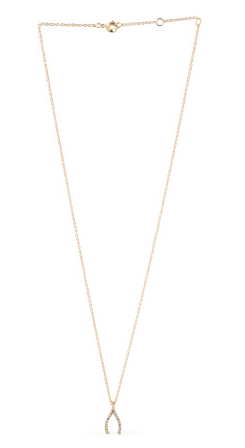 Mini pave wishbone necklace- $19.99 (was $49)
