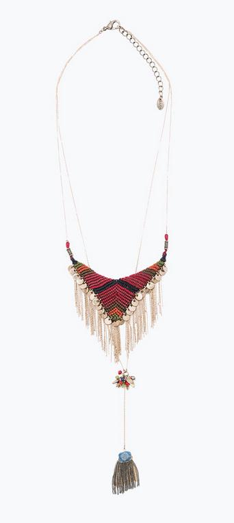 Zara textile mix necklace- $39.90