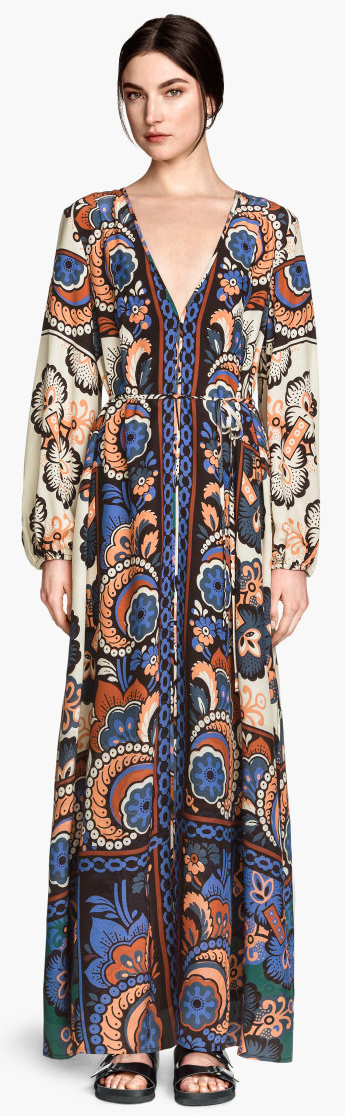 H&M printed maxi dress- $69.90