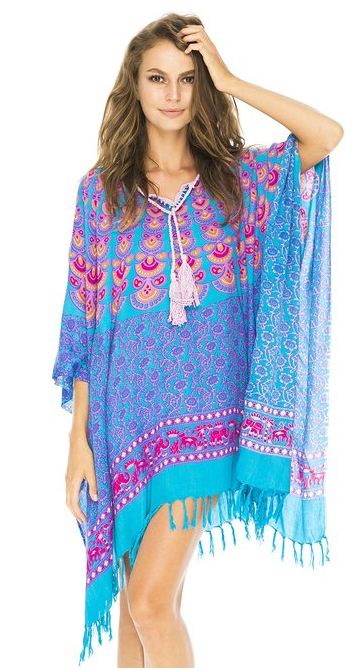 Back From Bali printed caftan- $39.95