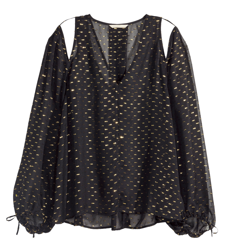 H&M Trend silk blouse- $19.99 (was $59.99)  Love the dark 70's YSL vibe here. Such a cool take on boho for fall.