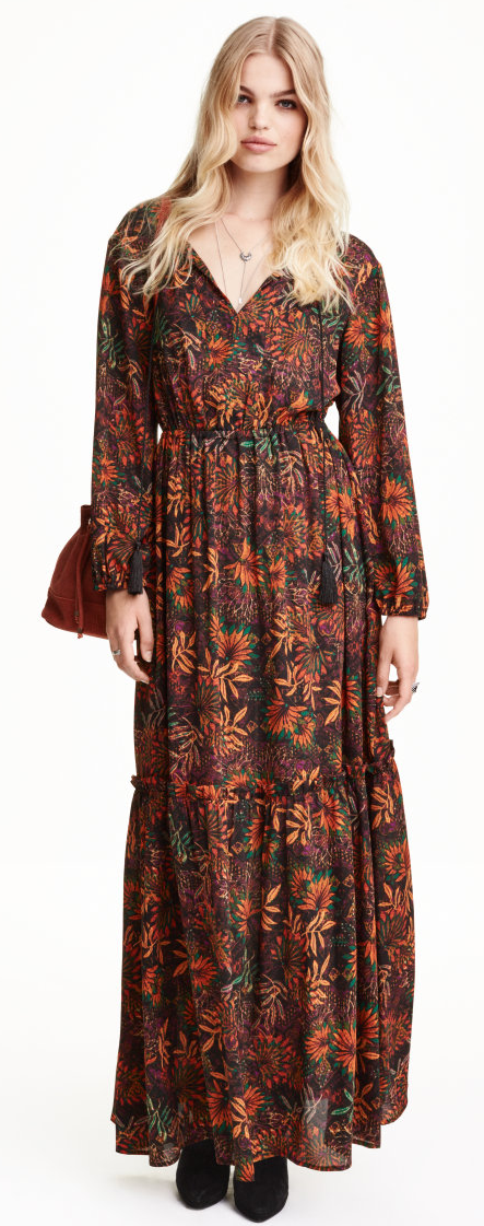 H&M flounced maxi dress- $19.99