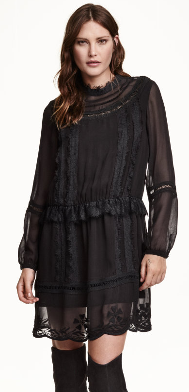 Lace Mix Dress- $24.99 (was $59.99)