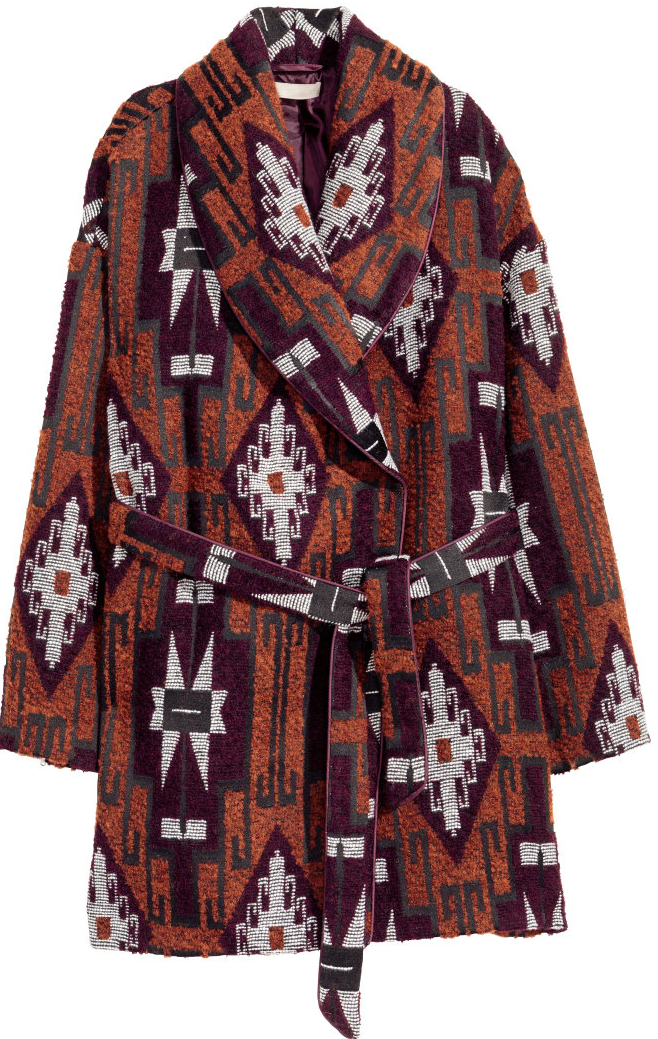 Jacquard Coat- $79.99 (was $129)