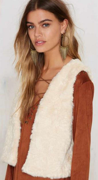 Faux fur vest- $12.25 (was $68)