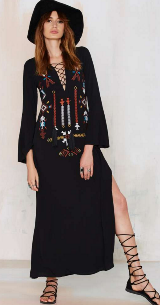 Embroidered Maxi- $24.50 (was $68)