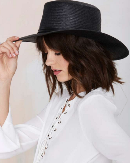 Straw boater- $10.50 (was $58)