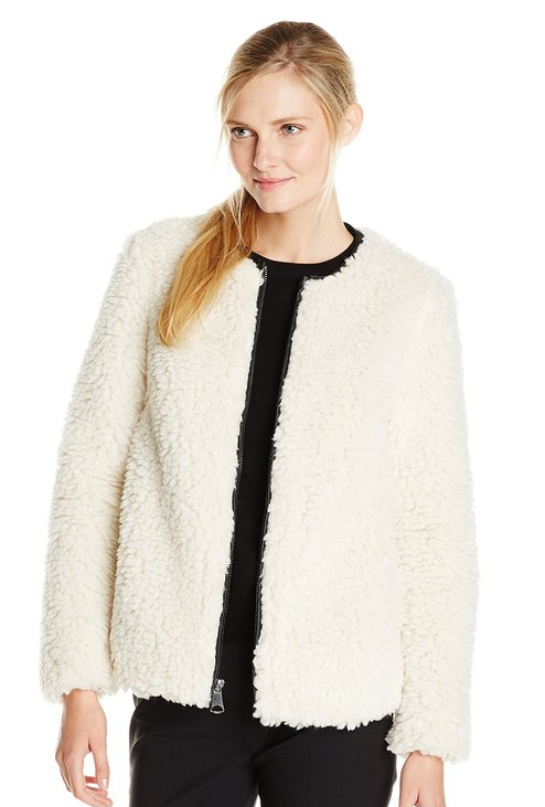 "Marc New York ""Jasmine"" faux shearling coat- $29 (was $128)"
