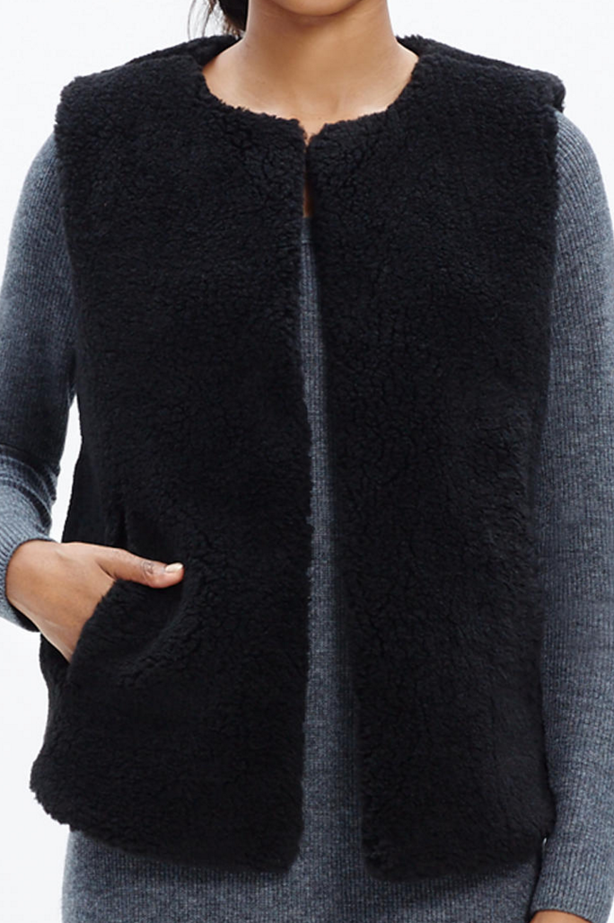 Faux Shearling vest- $34.99 (was $138)
