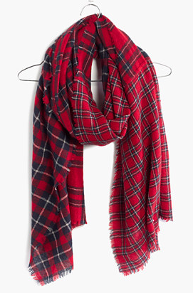 Mixed plaid wool scarf- $27.99 (was $59.50)