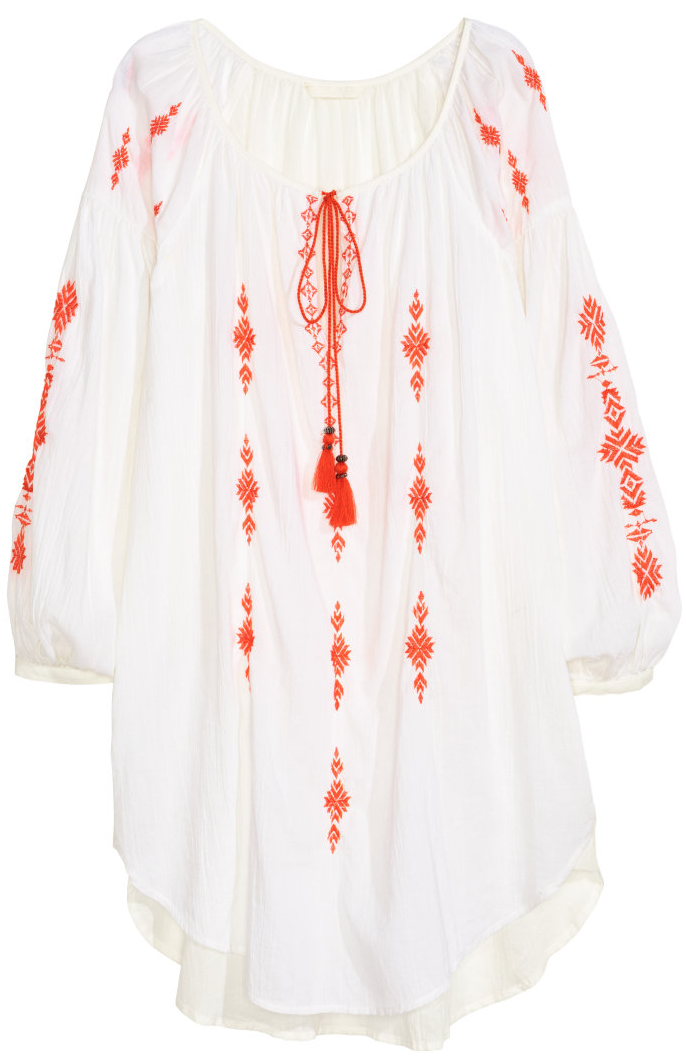 H&M embroidered cotton tunic- $19.99
