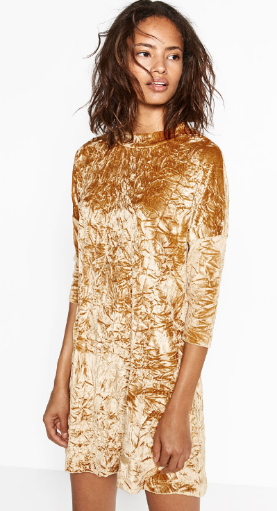 Zara velvet dress- $29.90