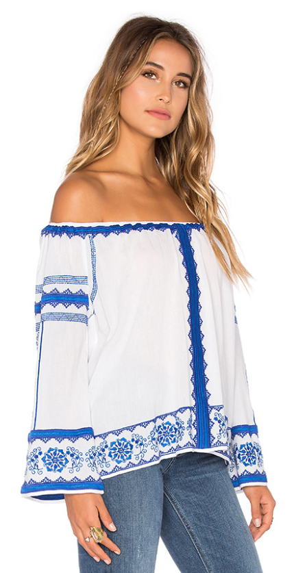 "Love Sam ""Wanda"" Embroidered Top- $39.99 (was $260)"